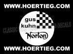 Gus Kuhn Norton Tank and Fairing Transfers Decals DKG1-20